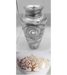 Vase Dekor ALBERO GoldGewischt Renaissance H 50cm, D 30cm, 0417.27.Go