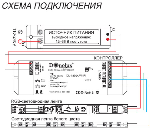 Схема подключения rgb-усилителя